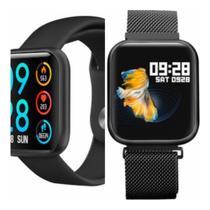 Relógio Smart Watch P80  Bluetooth Fitness Android E Ios App Da fit - Preto -