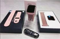 Relógio Smart Watch P80 C/ Duas Pulseiras Batimento Cardíaco DAFIT - Rosa - Smartwatch