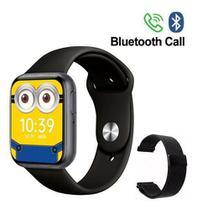 Relógio Smart watch P80s Faz Ligação Coloca Foto + Pulseira Extra-Preto -