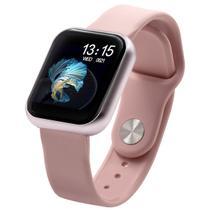 Relógio Smart Watch T80 C/ Duas Pulseiras Batimento Cardíaco ROSA - Haiz