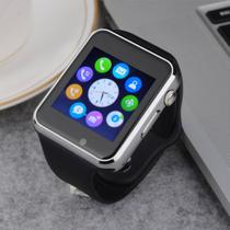 Relógio Smartwatch Android, Notificações Whatsapp, Bluetooth, Camera A1 Prata - Import