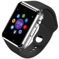 Relógio Smartwatch Android, Notificações Whatsapp, Bluetooth, Camera A1 Prata - Ke