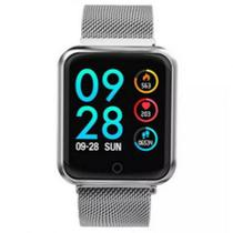 Relógio Smartwatch Bluetooth Inteligente P80 Band Fitness academia Android iphone Cinza