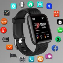 Relógio Smartwatch D20 inteligente monitor saúde bluetooth Preto - FITPRO
