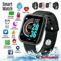 Relógio Smartwatch D20 Pulseira Inteligente Monitor Cardíaco Pressão Arterial cor: Preto - Abc