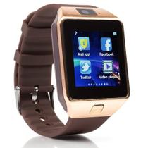 Relogio SmartWatch DZ09 Bluetooth Camera Celular Chip Cartao Musica Android E Ios - Dourado