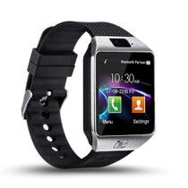 Relogio SmartWatch DZ09 Bluetooth Camera Celular Chip Cartao Musica Android E Ios - Prata