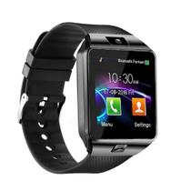 Relogio SmartWatch DZ09 Bluetooth Camera Celular Chip Cartao Musica Android E Ios - Preto