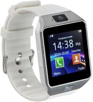 Relógio Smartwatch Dz09 Branco Unissex - Faz Ligação , Chip , Câmera -