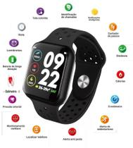 Relogio Smartwatch F8 Mtr-26 Troca Pulseira Ip67 Ios iPhone Android - Tomate