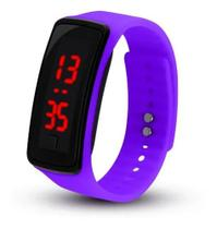 Relógio Smartwatch Feminino Masculino Pulseira Simples Roxo - Prime