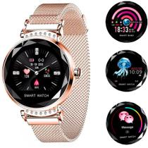Relógio Smartwatch Feminino Touch Screen Fashionable - Dourado -