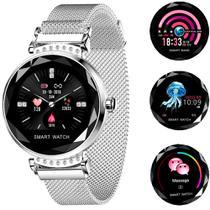 Relógio Smartwatch Feminino Touch Screen Fashionable - Prata -