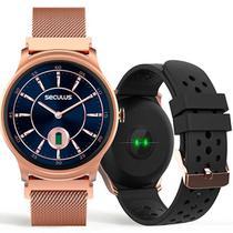 Relógio Smartwatch Feminino Troca Pulseira Seculus 79005LPSVRE1 -
