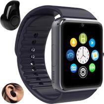 Relógio Smartwatch GT08 Inteligente Gear Chip Celular Touch + Mini Fone de Ouvido Bluetooth - Gt Smart