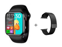 Relógio Smartwatch Hw12 40mm  Tela Infinita + Pulseira Metal Extra - Preto - iwo
