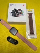 Relógio Smartwatch Hw12 40mm Tela Infinita + Pulseira Metal Extra - WH12
