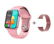 Relógio Smartwatch Hw12 40mm Tela Infinita + Pulseira Metal Extra -