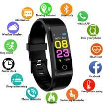 Relógio Smartwatch Id115 Plus Monitor Cardíaco Pressão Arterial -