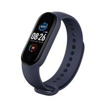 Relogio smartwatch inteligente fitness m5 android ios azul - Tomate