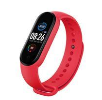 Relogio smartwatch inteligente fitness m5 android ios verm - Tomate
