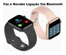Relogio Smartwatch Inteligente  H55 40mm  IwoMax Faz Chamadas + Pulseira  Extra - Rosa -