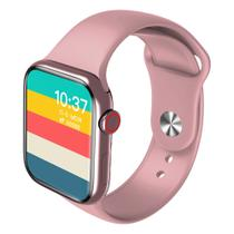 Relógio Smartwatch Inteligente Hw16 44mm Android iOS Bluetooth - Rosa - Smart Bracelet
