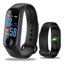 Relógio Smartwatch Inteligente Monitor Cardíaco E Pressão M3 -
