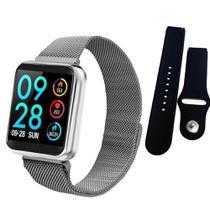 Relogio Smartwatch Inteligente P70 Pro Bluetooth Pulseira em Metal Prata - Sport Bracelet