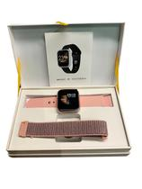 Relógio smartwatch inteligente pulseira aco rose - Wf