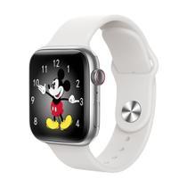 Relogio Smartwatch Inteligente W34s 44mm Android iOS Bluetooth - Branco - Smart Bracelet