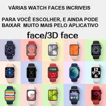 Relogio Smartwatch Iwo13 Lite AK76 com Tela Infinita Troca Foto e Pulseira Chamadas 3 Jogos - Azul -