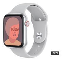 Relogio Smartwatch Iwo13 Lite AK76 com Tela Infinita Troca Foto e Pulseira Chamadas 3 Jogos - Branco -
