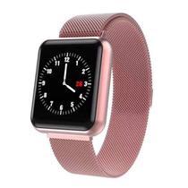 Relógio Smartwatch P68 Inteligente Ip68 Monitor De Pressão Arterial Frequência Cardíaca Impermeável Iphone Android Saúde -