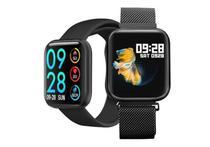 Relogio Smartwatch P70 Masculino Oled + Duas Pulseiras - Smartwatch Preto -