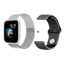 Relógio Smartwatch P70 Monitor Cardíaco Pressão Arterial Sono Passos Android Ios - Prata - Smart Bracelet