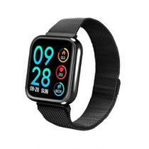 Relógio Smartwatch P70 Preto Monitor Cardíaco Pressão Arterial Sono Passos Android Ios - P Smart