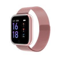 Relógio Smartwatch P70 Rosa Monitor Cardíaco Pressão Arterial Sono Passos Android Ios - Rosa - Smart Bracelet