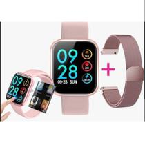 Relógio Smartwatch P80 Android Ios Rosa - 3dimports