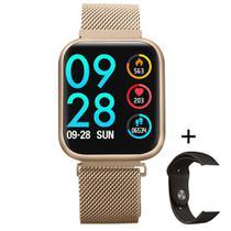 Relogio Smartwatch P80 Inteligente Bluetooth Whats IOS Android C/ Monitor Cardíaco Pressão -