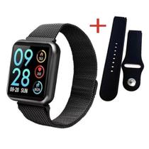 Relógio Smartwatch P80 Sports Bluetooth Fitness Moderno-preto -