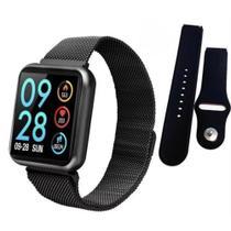 Relógio Smartwatch P80s Ios Coloca Foto Tela Faz Ligações + Pulseira de Metal - Smart Watch