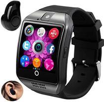 Relógio Smartwatch Q18 Inteligente Gear Chip Celular Touch + Mini Fone de Ouvido Bluetooth - Variada