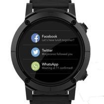 Relogio smartwatch redondo pulseira laranja seculus 79004g0svnv1 -