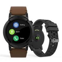 Relogio smartwatch redondo pulseira marrom seculus 79004g0svnv2 -