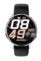 Relógio smartwatch redondo silicone preto - Seculus