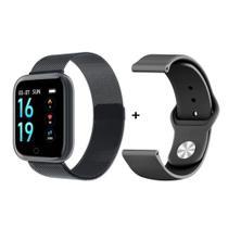 Relógio Smartwatch T80s Bluetooth Pressão Arterial Frequência Cardíaca Oxigênio Preto -
