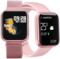 Relogio Smartwatch T80s Feminino Rose - Wl -