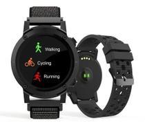 Relógio Smartwatch Troca Pulseira Com Função Gps Grafite - Seculus
