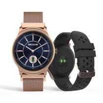 Relógio Smartwatch troca pulseiras malha de aço rosé 79005LPSVRE1 - Seculus -